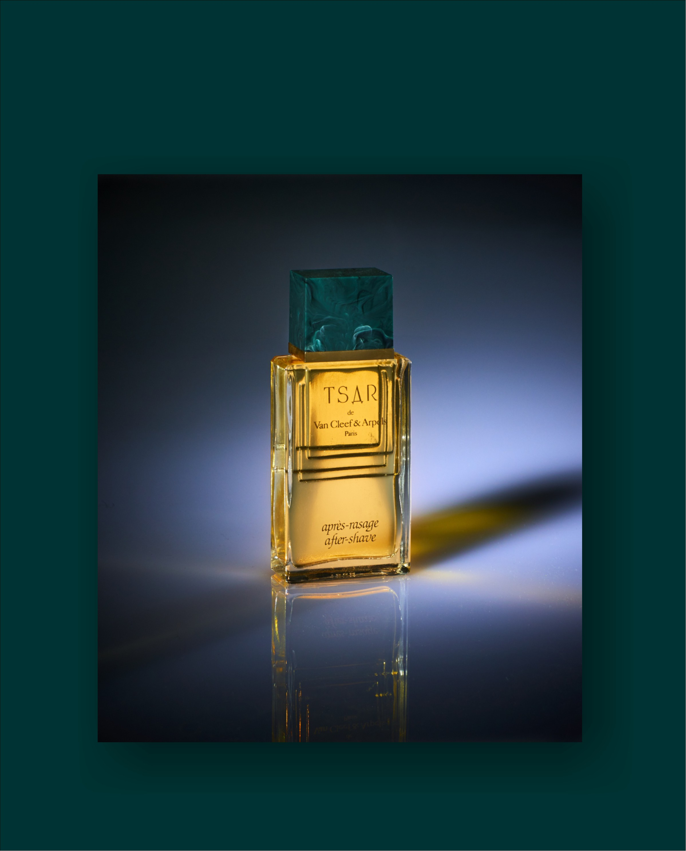 Tsar after shave - Van Cleef & Arpels  Paris with dramatic lighting for advertising